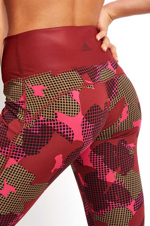ADIDAS Believe This Tights - Noble Maroon image 3 - The Sports Edit