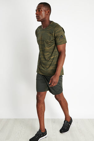 Adidas FreeLift Camo Tee - Tech Olive image 2 - The Sports Edit