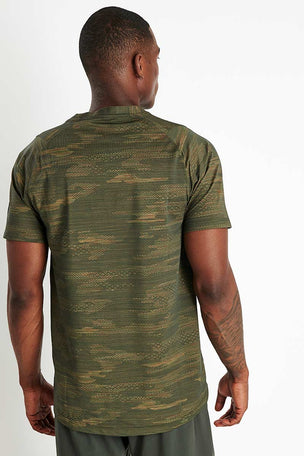 Adidas FreeLift Camo Tee - Tech Olive image 3 - The Sports Edit