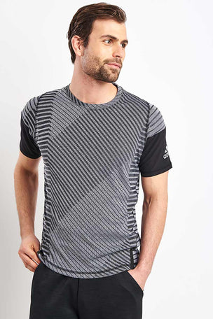 ADIDAS FreeLift 360 Strong Graphic Tee - Grey image 1 - The Sports Edit
