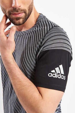 ADIDAS FreeLift 360 Strong Graphic Tee - Grey image 3 - The Sports Edit