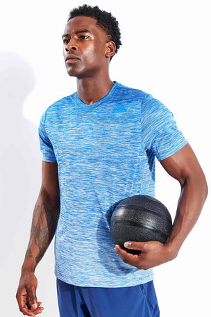 Adidas Tech Gradient T-Shirt - Glory Blue image 1 - The Sports Edit