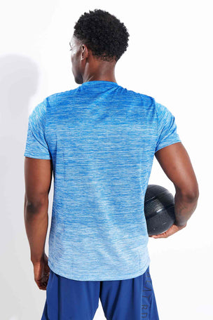 Adidas Tech Gradient T-Shirt - Glory Blue image 3 - The Sports Edit