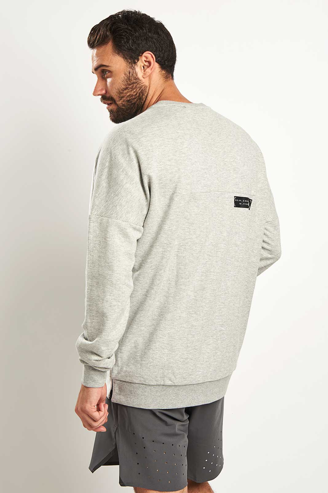 ADIDAS Athletics Crewneck Sweatshirt | Grey image 2 - The Sports Edit