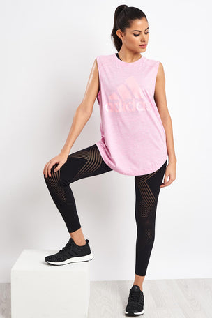 ADIDAS ID Winners Muscle Tee - True Pink image 4 - The Sports Edit