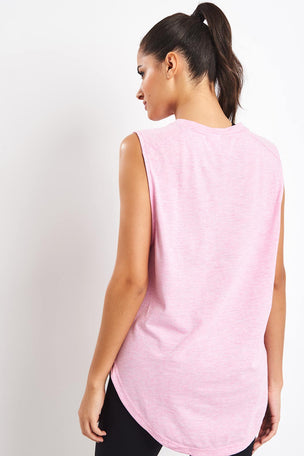 ADIDAS ID Winners Muscle Tee - True Pink image 2 - The Sports Edit