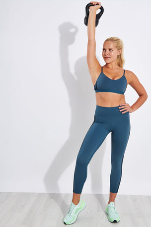 Adidas Believe This 2.0 3-Stripes 7/8 Leggings - Legacy Blue image 2 - The Sports Edit