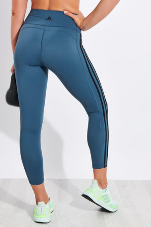 Adidas Believe This 2.0 3-Stripes 7/8 Leggings - Legacy Blue image 3 - The Sports Edit