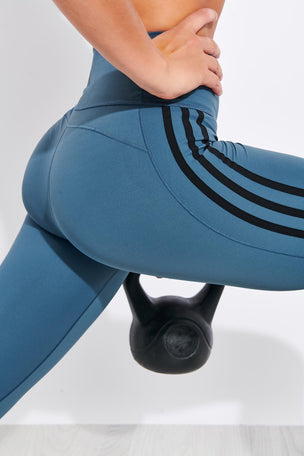 Adidas Believe This 2.0 3-Stripes 7/8 Leggings - Legacy Blue image 4 - The Sports Edit