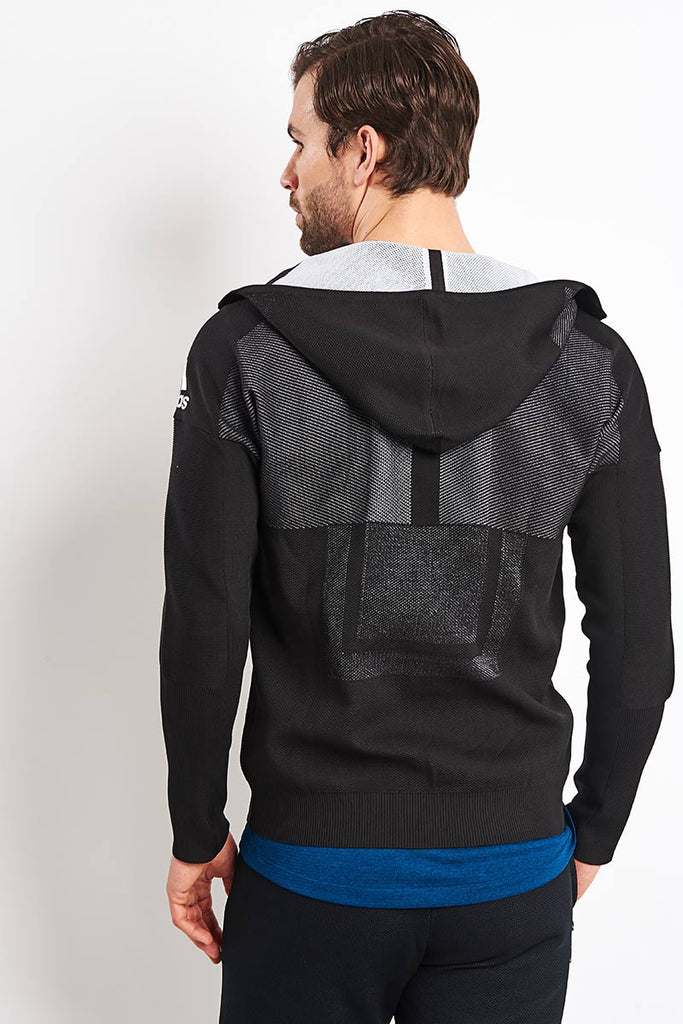 pretty nice the sale of shoes later adidas | Z.N.E Primeknit Hoodie - Black | The Sports Edit
