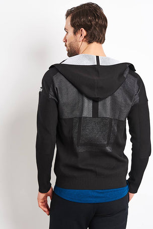 ADIDAS Z.N.E Primeknit Hoodie - Black image 2 - The Sports Edit