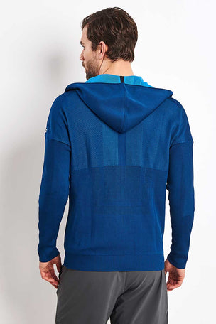ADIDAS Z.N.E Primeknit Hoodie - Legend Marine image 2 - The Sports Edit