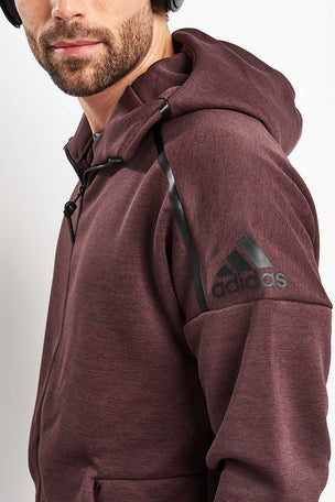 ADIDAS Z.N.E. Full Zip Hooded Training Sweat - Night Red image 3 - The Sports Edit