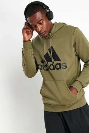 442f83bea6abeb ADIDAS Must Haves Badge of Sport Hoodie - Green image 1 - The Sports Edit