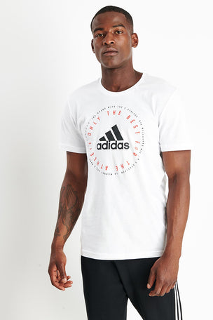 ADIDAS Emblem Tee - White image 1 - The Sports Edit