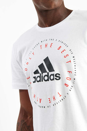 ADIDAS Emblem Tee - White image 4 - The Sports Edit