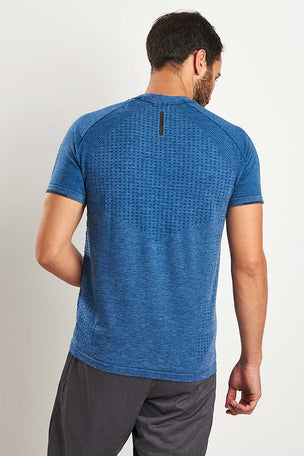 ADIDAS Primeknit Wool Tee - Blue Night image 2 - The Sports Edit