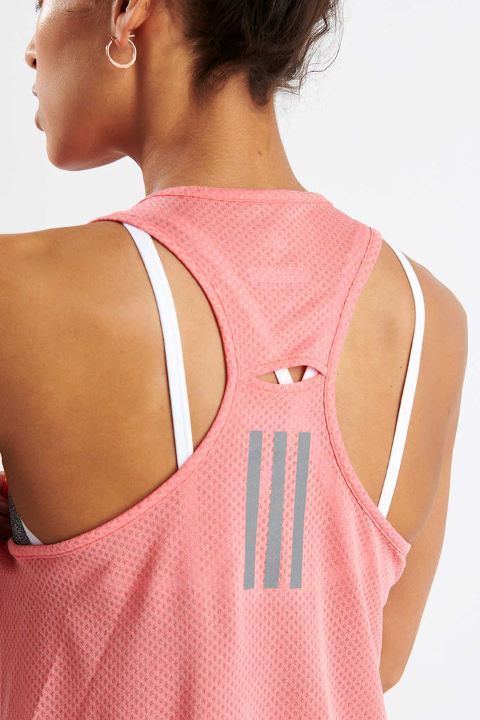 ce69bf41 adidas | Response Light Speed Tank Top - Shock Red | The Sports Edit