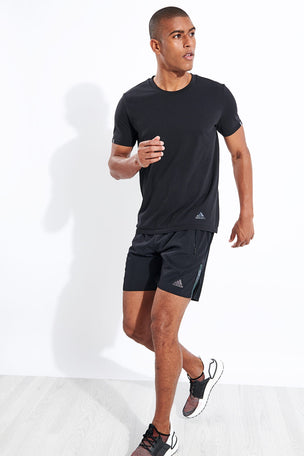 Adidas Saturday Two-in-One Ultra Shorts - Black image 2 - The Sports Edit