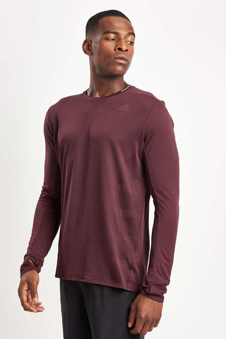 ADIDAS Supernova Long Sleeve - Dark Burgundy image 1 - The Sports Edit