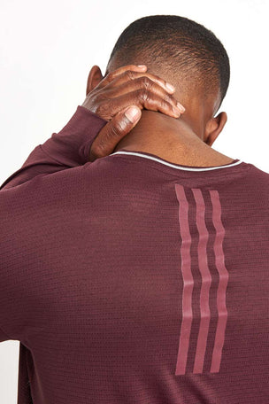 ADIDAS Supernova Long Sleeve Top - Dark Burgundy image 3 - The Sports Edit