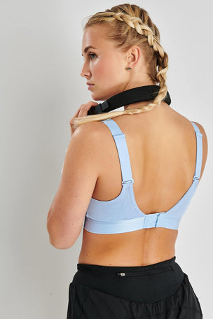 ADIDAS Stronger For It Soft Bra - Glow Blue image 3 - The Sports Edit