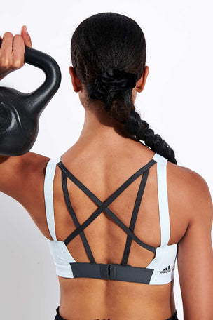 Adidas Stronger For It Alpha Bra - Sky Tint image 3 - The Sports Edit