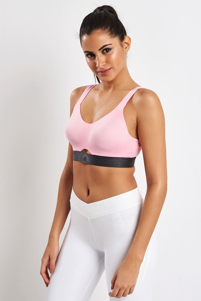 55a06e0232 adidas | Stronger For It Soft Bra - True Pink | The Sports Edit