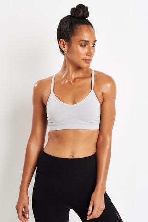 ADIDAS All Me Bra - Grey Two image 1 - The Sports Edit