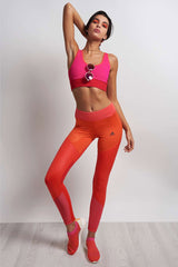 ADIDAS WOW Ultimate Long Tights - CORE RED/PINK image 4 - The Sports Edit
