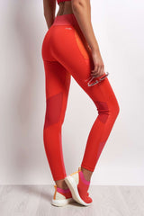 ADIDAS WOW Ultimate Long Tights - CORE RED/PINK image 2 - The Sports Edit