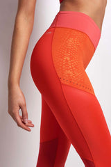 ADIDAS WOW Ultimate Long Tights - CORE RED/PINK image 3 - The Sports Edit