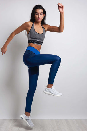 ADIDAS Ultimate Long Tights - Mystery Blue image 4 - The Sports Edit