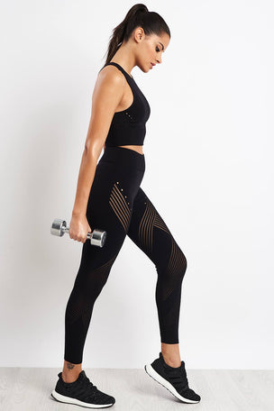 ADIDAS Warp Knit High-Rise 7/8 Tights image 4 - The Sports Edit