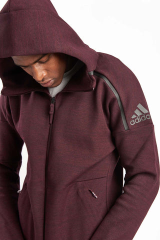 ADIDAS Z.N.E. Storm Heathered Hoodie image 1 - The Sports Edit