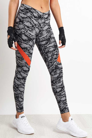 adidas X Stella McCartney Alphaskin 360 Long Tights - Grey/Black image 5 - The Sports Edit