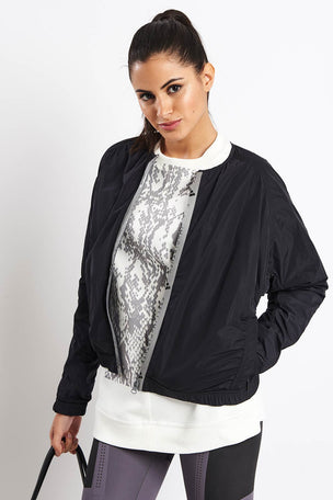 adidas X Stella McCartney Athletics Bomber Jacket - Black image 5 - The Sports Edit
