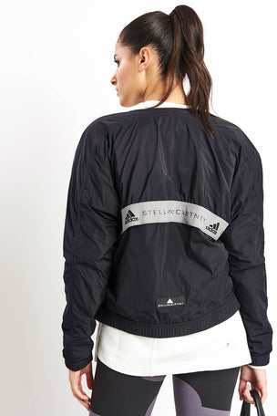 adidas X Stella McCartney Athletics Bomber Jacket - Black image 2 - The Sports Edit