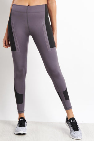 adidas X Stella McCartney FitSense+ Training Tights - Granite image 5 - The Sports Edit