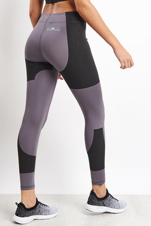 adidas X Stella McCartney FitSense+ Training Tights - Granite image 2 - The Sports Edit
