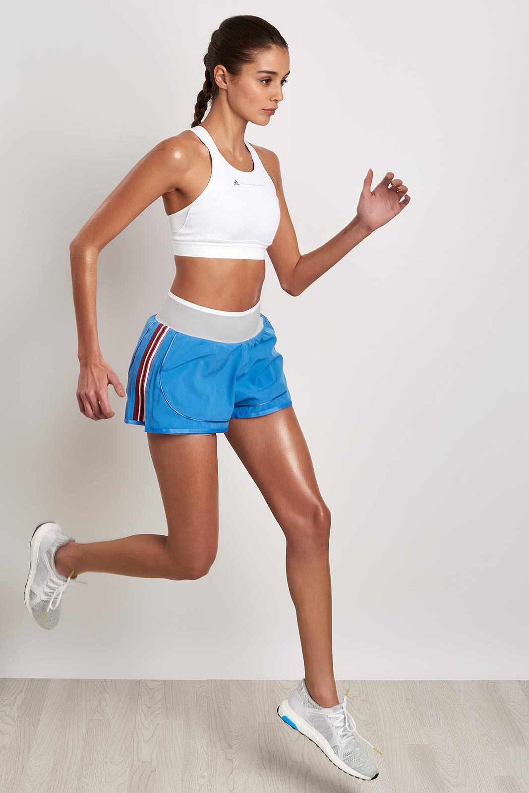adidas X Stella McCartney Train HIIT Short - Storm Blue image 5 - The Sports Edit