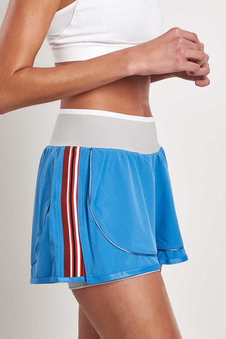 adidas X Stella McCartney Train HIIT Short - Storm Blue image 1 - The Sports Edit