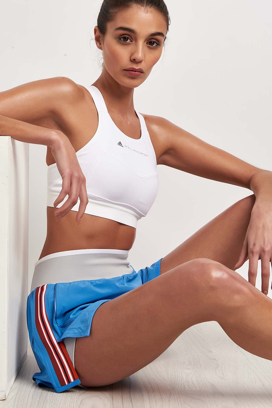 adidas X Stella McCartney Train HIIT Short - Storm Blue image 3 - The Sports Edit