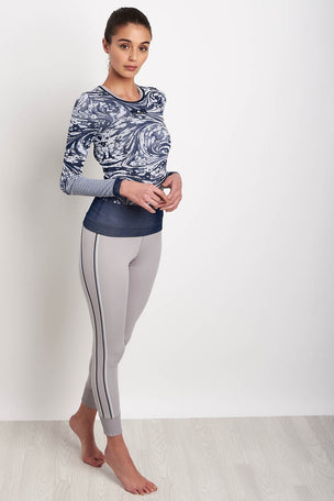 adidas X Stella McCartney Yoga Seamless Long sleeve - Navy image 5 - The Sports Edit