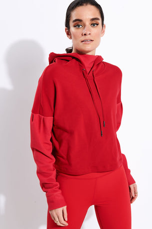 Alala Aspen Hoodie - Ruby image 1 - The Sports Edit