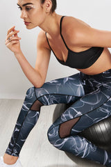 Alala Captain Ankle Tight Smoke Print image 3 - The Sports Edit
