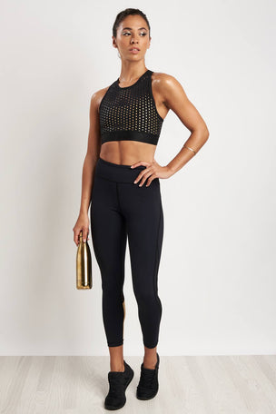 Alala Cross Back Bra Liquid Gold image 4 - The Sports Edit