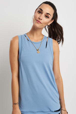 Alala Curve Tank - Ice Blue image 5 - The Sports Edit