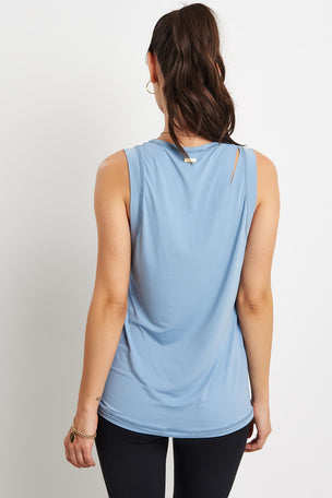 Alala Curve Tank - Ice Blue image 2 - The Sports Edit