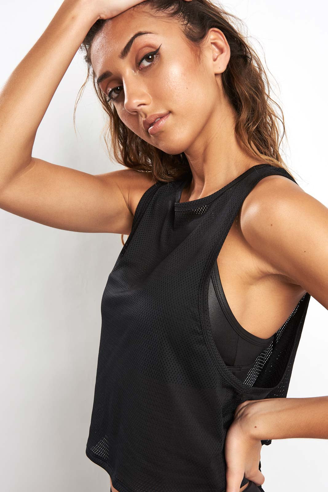 Alala Mesh Tank - Black image 1 - The Sports Edit